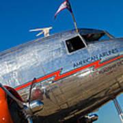 Vintage Dc-3 Airplane Poster