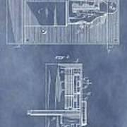 Vintage Door Lock Patent Poster