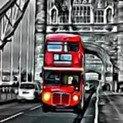 Vintage Double Decker In London Poster