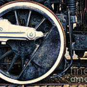 Vintage Drive Wheel Poster by Olivier Le Queinec
