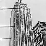 Vintage Empire State Building Poster