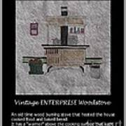 Vintage Enterprise Woodstove Poster