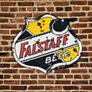 Vintage Falstaff Beer Shield Dsc07192 Poster