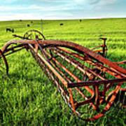 Vintage Farm Equipment I - Blue Ridge Poster by Dan Carmichael
