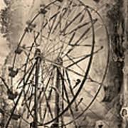 Vintage Ferris Wheel Poster