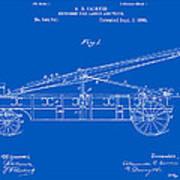 Vintage Firetruck Patent - Blueprint Poster
