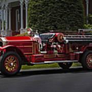 Vintage Firetruck Poster by Susan Candelario