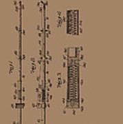 Vintage Fishing Rod Patent 1942 Poster