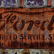 Vintage Ford Authorized Service Sign Poster