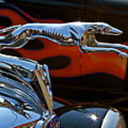 Vintage Ford Lincoln Hood Ornament Poster