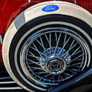 Vintage 1931 Ford Phaeton Spare Tire Poster