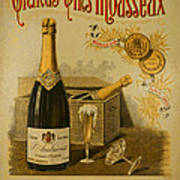Vintage French Poster Andrieux Wine Poster