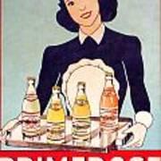 Vintage French Tin Sign Primerose Poster