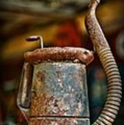 Vintage Garage Oil Can Poster