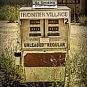 Vintage Gas Pump At An Abandoned Filling Station Poster