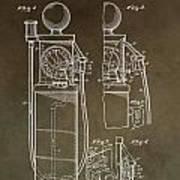 Vintage Gas Pump Patent Poster
