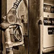 Vintage Gas Pump Showing Its Age Poster