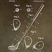 Vintage Golf Club Patent Poster