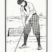 Vintage Golfer 1900 Poster