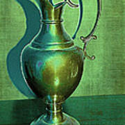 Vintage Green Pewter Pitcher Poster