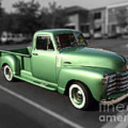 Vintage Green Chevy 3100 Truck Poster