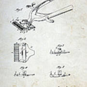 Vintage Hair Clippers Patent Poster