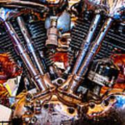 Vintage Harley Knucklehead Poster