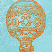 Vintage Hot Air Balloon Poster