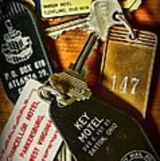 Vintage Hotel Keys Poster