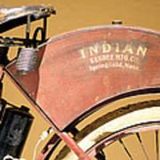 Vintage Indian Bike Poster