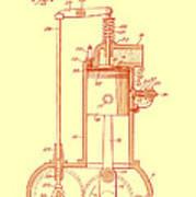 Vintage Internal Combustion Engine Patent 1940 Poster