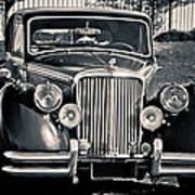 Vintage Jaguar 1950s Poster