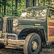 Vintage Jeep Station Wagon Poster
