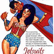 Vintage Jetsuit Advertisement Poster