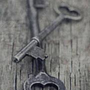 Vintage Keys Poster by Priska Wettstein