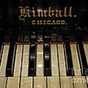 Vintage Kimball Piano Poster