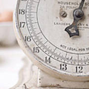 Vintage Kitchen Scale Poster