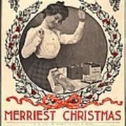 Vintage Kodak Christmas Card Poster