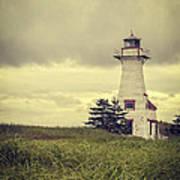 Vintage Lighthouse Pei Poster