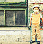 Vintage Little Boy Poster by Stephanie Grooms