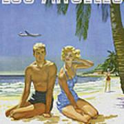 Vintage Los Angeles Travel Poster Poster