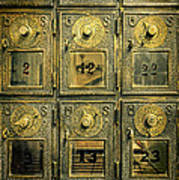 Vintage Mailboxes Poster