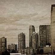 Vintage Manhattan Skyline Poster