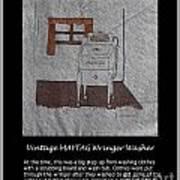 Vintage Maytag Wringer Washer Poster
