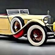 Vintage Mercedes Convertible Poster