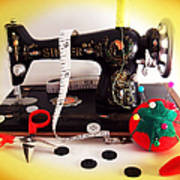 Vintage Mini Sewing Machine Poster