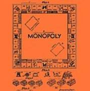 Vintage Monopoly Game Patent Poster