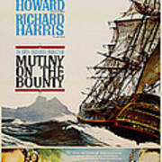 Vintage Mutiny On The Bounty Movie Poster 1962 Poster