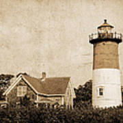 Vintage Nauset Lighthouse Poster