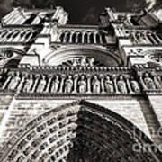 Vintage Notre Dame Poster by John Rizzuto